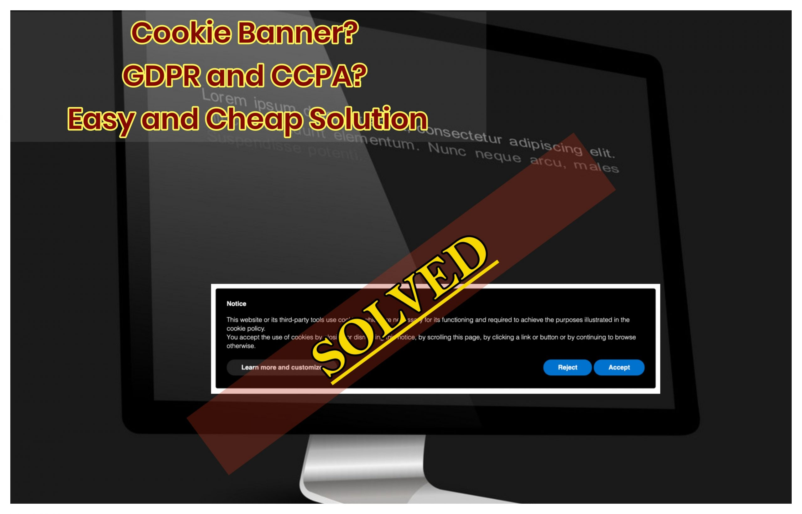 How to insert cookie banner solution